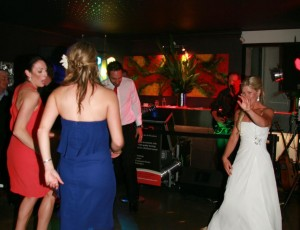 Bride having a ball