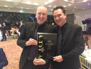 We won!! Second year in a row for Best Live Band – Victoria